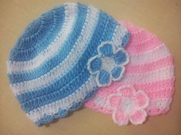 Crochet Baby Beanie Pattern Free : Baby Beanie ~ free pattern Crochet & Knitting Pinterest