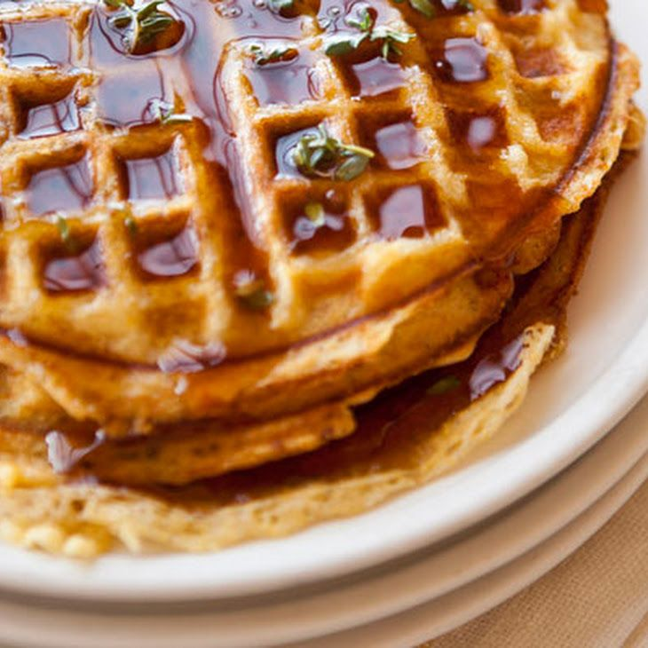 Cornmeal-Bacon Waffles - bacon, eggs, buttermilk, butter, cornmeal, a ...
