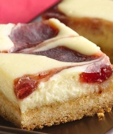 Strawberry Cheesecake Bars | Recipe