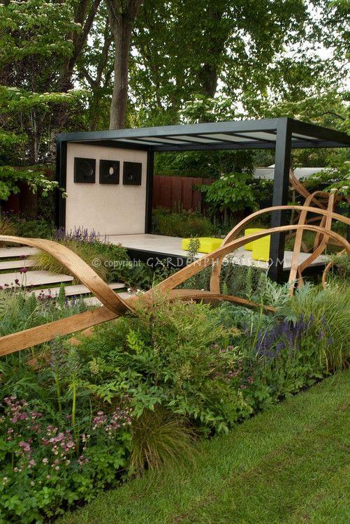 Modern Backyard Fence : modern garden fence  tuinhuizen & tuinaanleg  Pinterest
