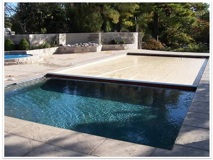 In Ground Pool With Automatic Cover For The Home Pinterest