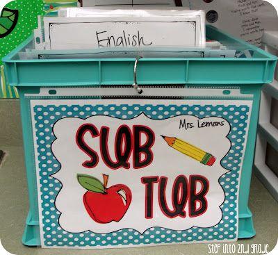 Sub Tub - Step into 2nd Grade with Mrs. Lemons