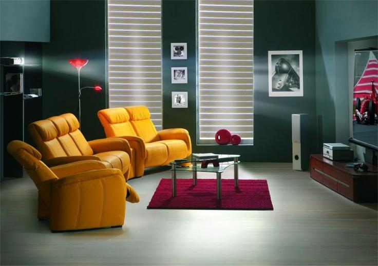 La collection de #salon en #cuir CINÉ HOME est une invitation à la ...