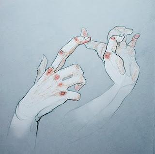 dibujar dedos de las manos tocando