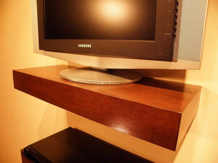 floating wood shelves wall shelf walnut color 48 x 9 5. Black Bedroom Furniture Sets. Home Design Ideas