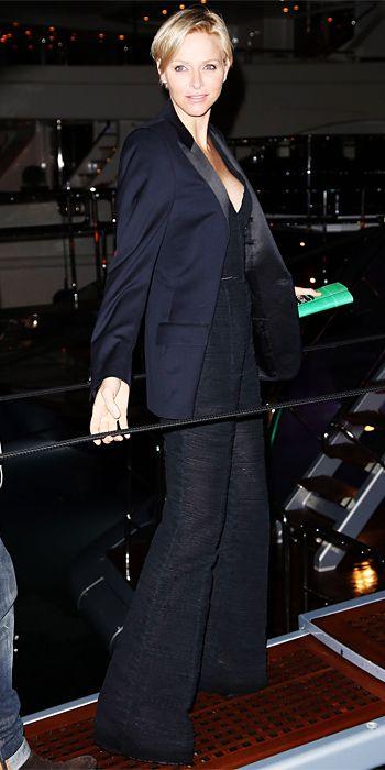 Princess Charlene of Monaco in Roberto Cavalli at Cannes 2013
