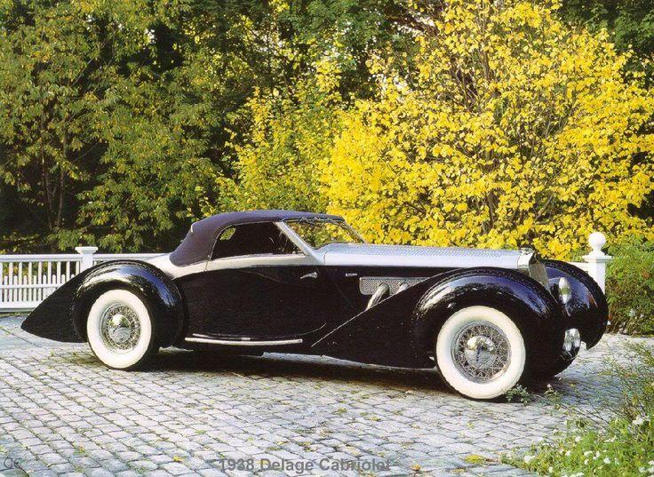 1938 Delage cabriolet ...