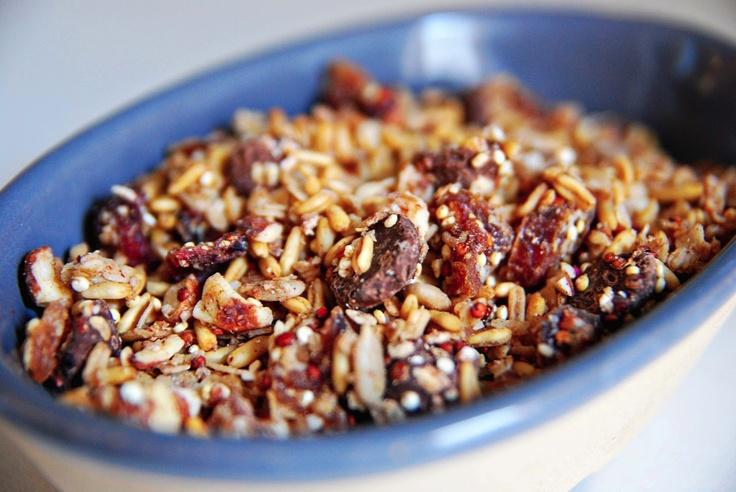 Crunchy Quinoa Granola (Gluten Free) | WholesomeHealthfulDelicious ...
