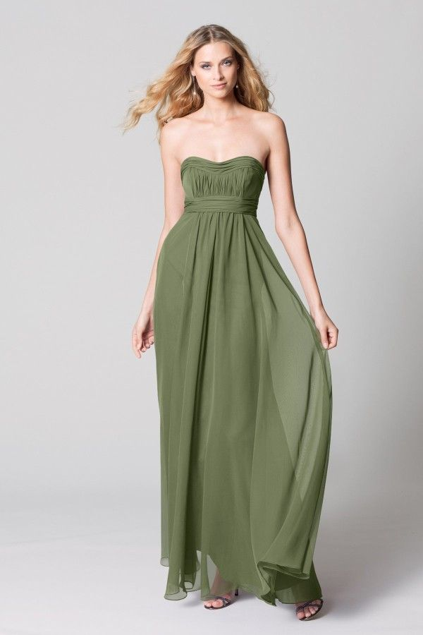 Olive Green Wedding Dresses - Overlay Wedding Dresses