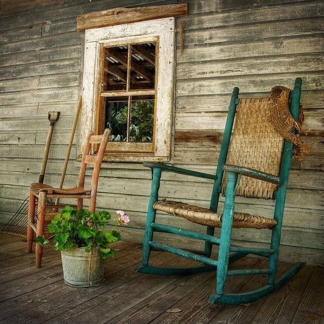 Rocking chairs and front porches