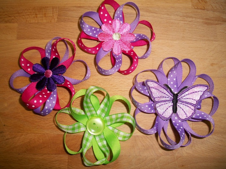 How to make Ribbon Flower hairbows