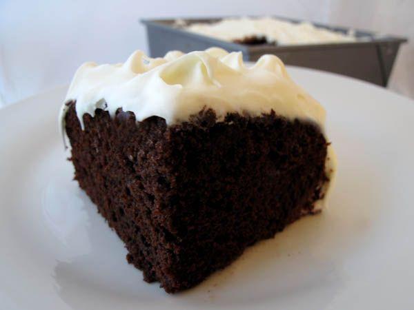 Chocolate Mayonnaise Cake piece. Not a sweet cake. Tastes wonderful ...