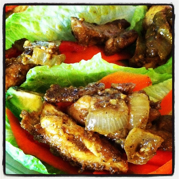 Curry Chicken Lettuce Wraps | Salads | Pinterest