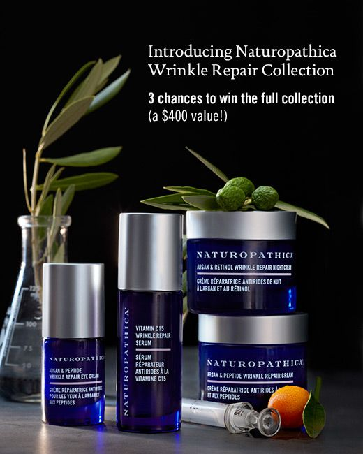 Our exclusive Deal of the Week features @Naturopathica Wrinkle Repair Collection. Enter for chance to WIN!