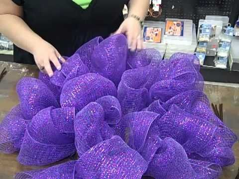 nancy, our fabulous beads manager, loves geo mesh wreaths
