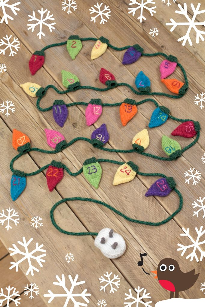 Knitted christmas lights | Knitting Crafts | Pinterest