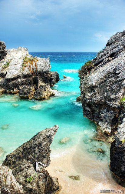Blue Bermuda water.