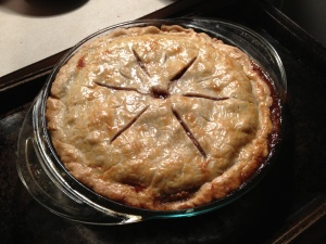 Tyler Florence's Pear and Walnut Pie with Apple Butter Creme Fraiche