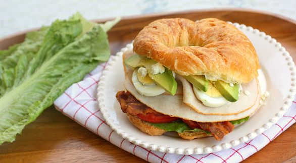 Cobb Salad Sandwich. (yumm..you can put anything on this..I would add ...