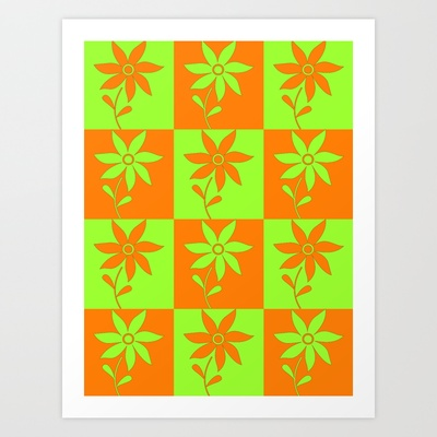 Flower Pattern Art Print by LoRo  Art & Pictures - $16.55