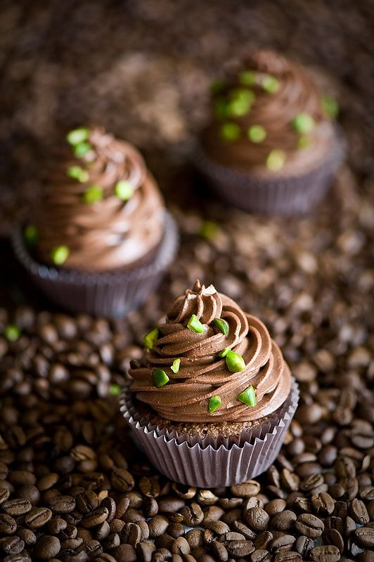 Espresso chocolate cupcakes. | Food | Pinterest
