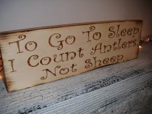 To Go To Sleep, I Count Antlers, Not Sheep! Sweet baby boy\'s nursery decor