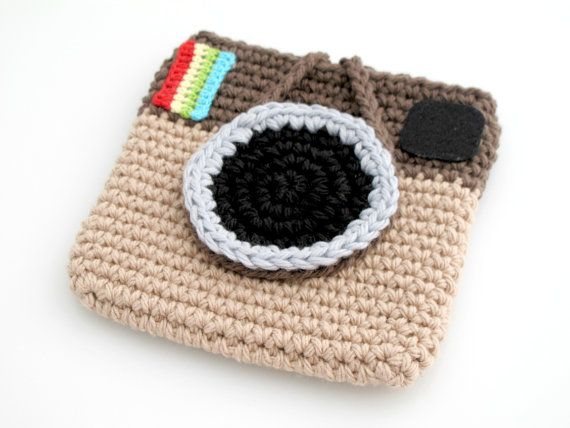 Crocheted Instagram Mini Bag. Purse. Pouch. by EuniceNeedlecraft