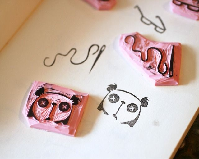 Rubber stamp carving tutorial printing pinterest