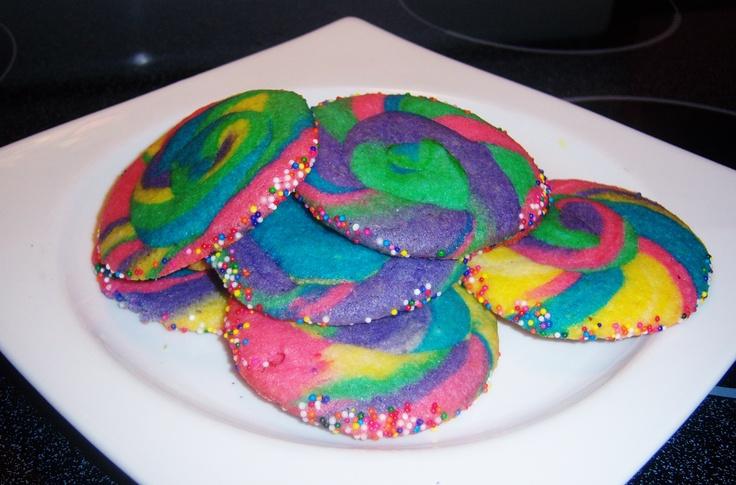 Rainbow Pinwheel Cookies | Cookies de colores | Pinterest