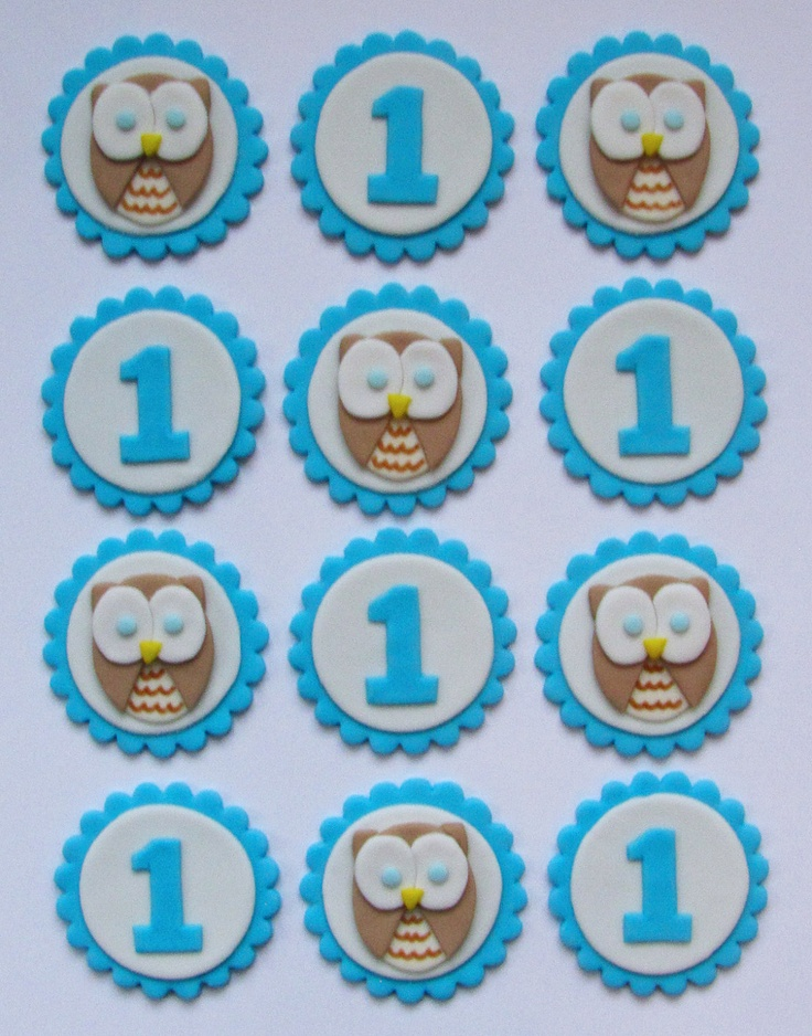First Birthday Boy Cupcake Decorations Image Inspiration of Cake