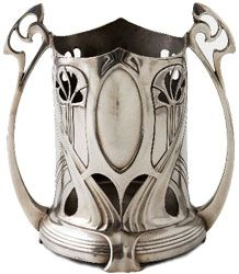 Art Nouveau silver tankard