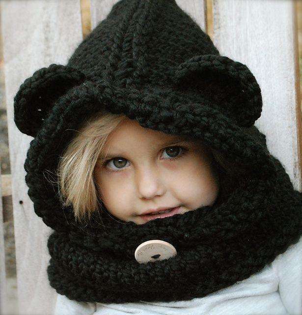 Animal Cowl Knitting Pattern : Burton Bear Cowl Ravelry: The Burton Bear Cowl pattern by Heidi ... Lila ...