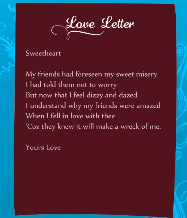 Love Letter For Him From The Heart Funny love letters for her can