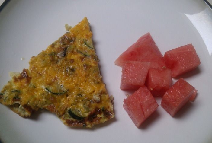 Zucchini, mushroom, and spinach frittata | My stomach just smiled | P ...