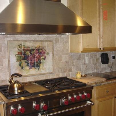 tumbled marble backsplash apartment ideas pinterest