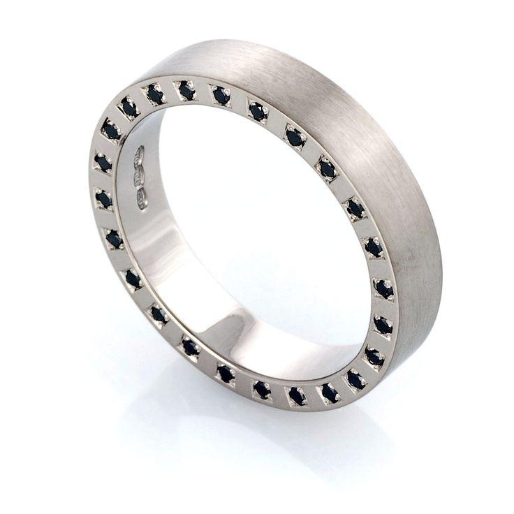 Ring black diamond ring wedding band black diamond ring men black