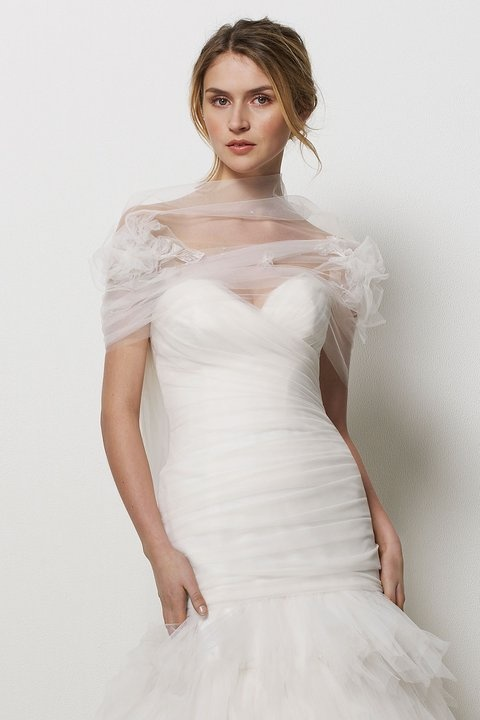 tulle bridal wrap