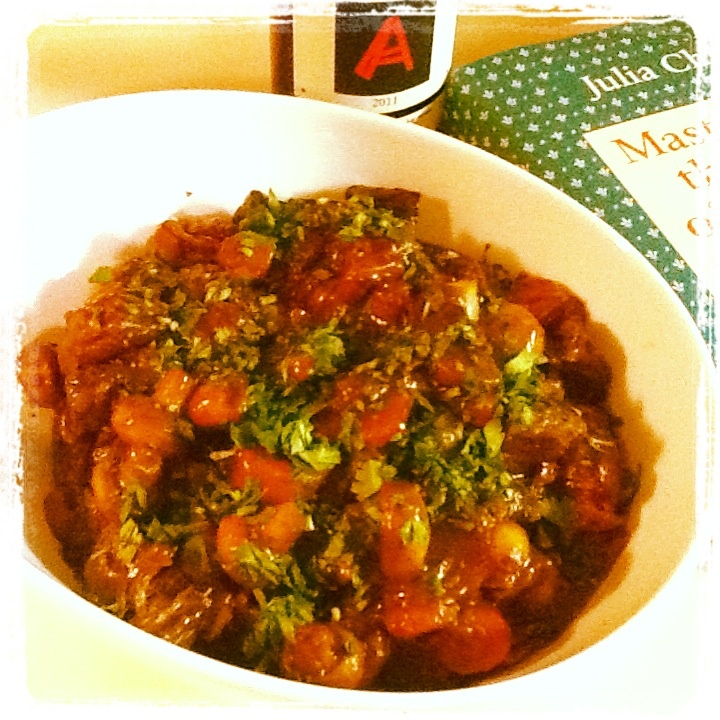 Julia Childs--Beef Bourguignon | Anyone can cook | Pinterest