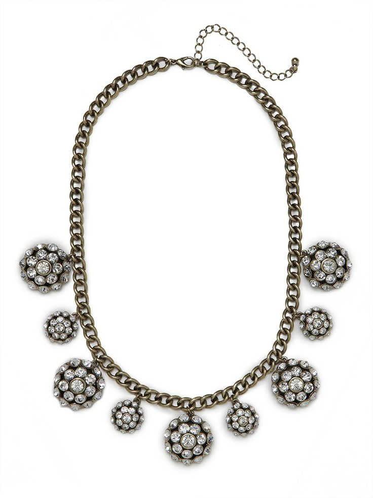 Glitzy and glamorous, this striking necklace works a party vibe à la Studio 54. $40 at Bauble Bar.