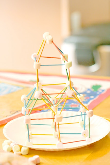 Toothpick Marshmallow Structures