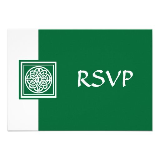 Rsvp celtic knot color select bottle green example invitations