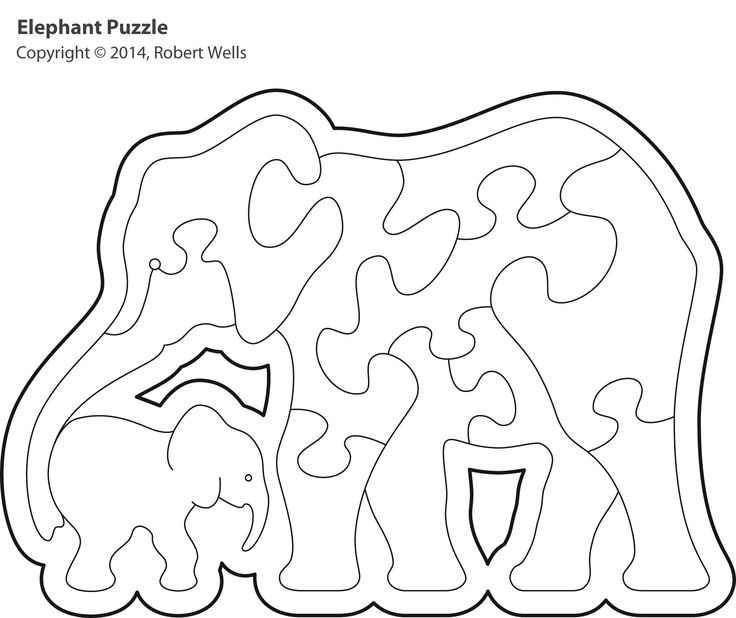 elephant-outline.jpg 1,728×1,452 pixels | Woodworking & Projects to m ...