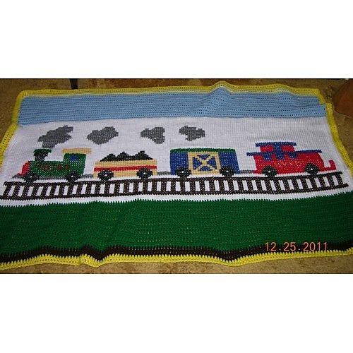 Knitting Pattern Train Blanket : Train Baby Afghan Crochet/Knit Pinterest