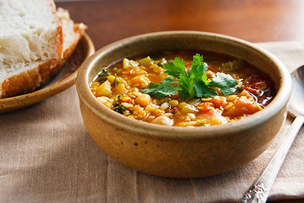 Moroccan Red Lentil Soup | Vegan Community | Pinterest