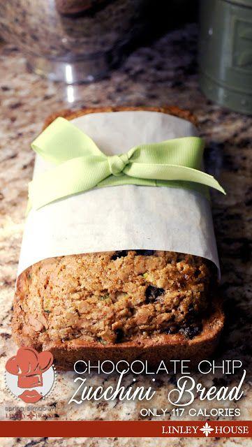 Slim-Down Chocolate Chip Zucchini Bread ONLY 117 calories per slice ...