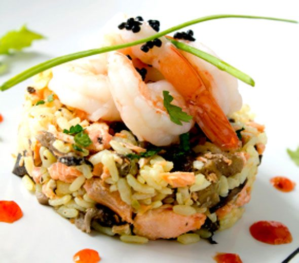 Seafood risotto - The Lady Bloggers. Recipe included.