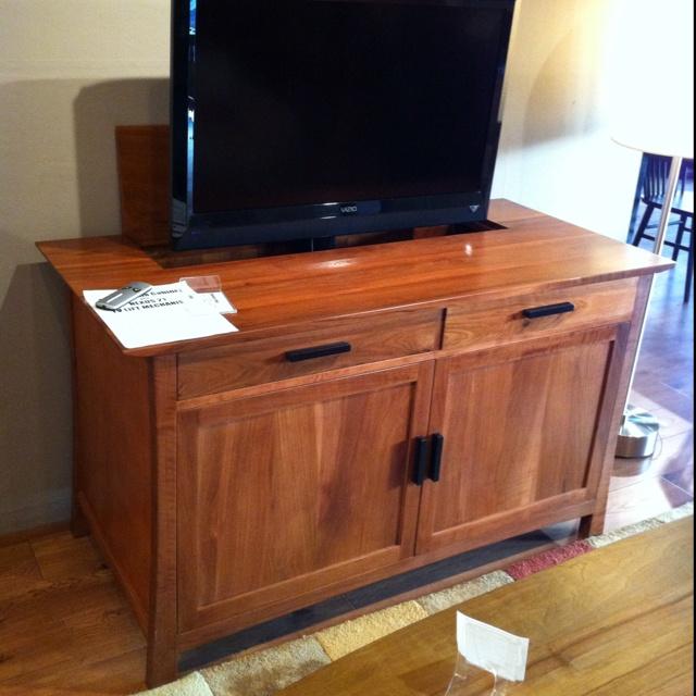 pop up tv cabinet for the home pinterest. Black Bedroom Furniture Sets. Home Design Ideas