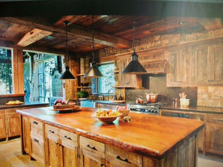 Cabin kitchen kitchen design pinterest Cabin kitchen decor