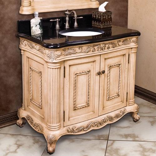 40 antique ornate vanity cabinet