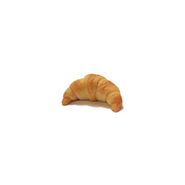 Pancake Meow - Flaky croissant charm liked on Polyvore